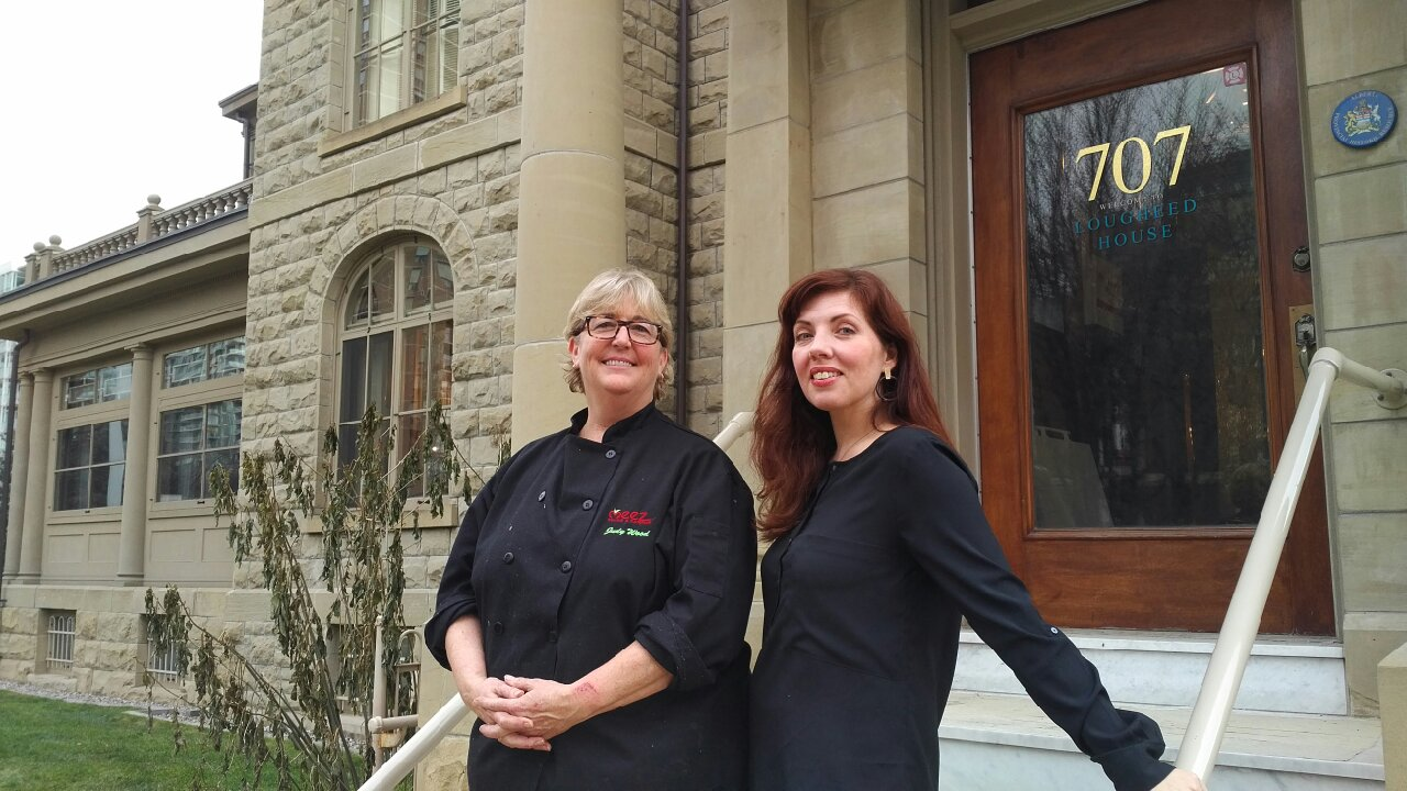 Chef Judy Wood and Operations Manager Shannon Leahy have opened a pop-up restaurant at Lougheed House.