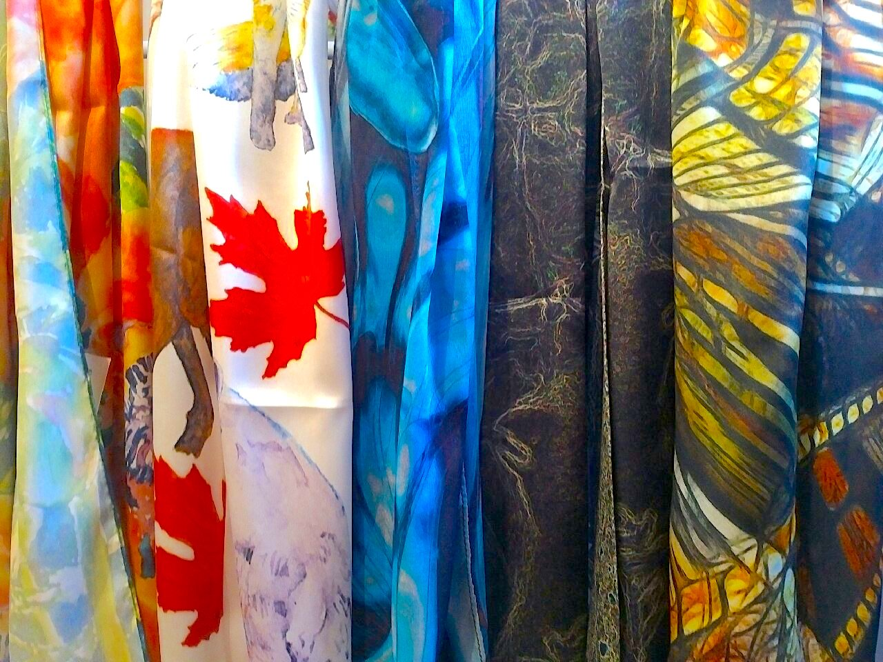 Silk scarves from Seta & Ink.