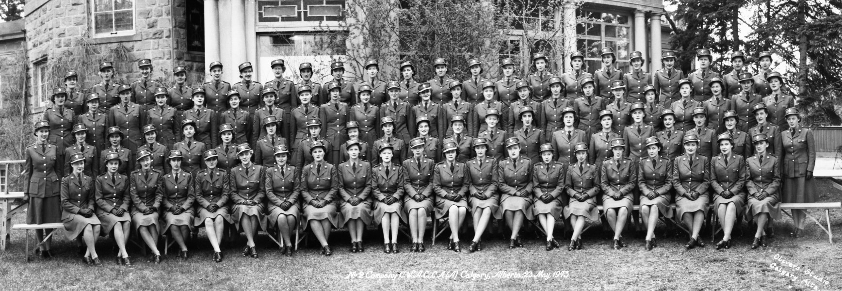 Number 2 company, Canadian Women's Army Corps, Calgary, Alberta | Photo by W.J. Oliver | May 23, 1943 | Glenbow Archives NA-4940-2